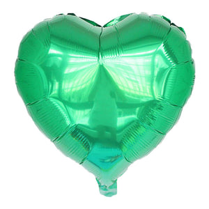 "Green Color Heart Shape Balloon - 18"" - PartyMonster.ae"
