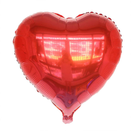 Red Heart Shaped Foil Balloon