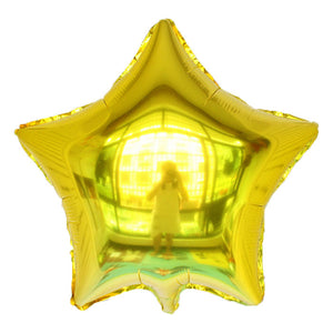 "Golden Color Star Shaped Balloon - 18"" - PartyMonster.ae"