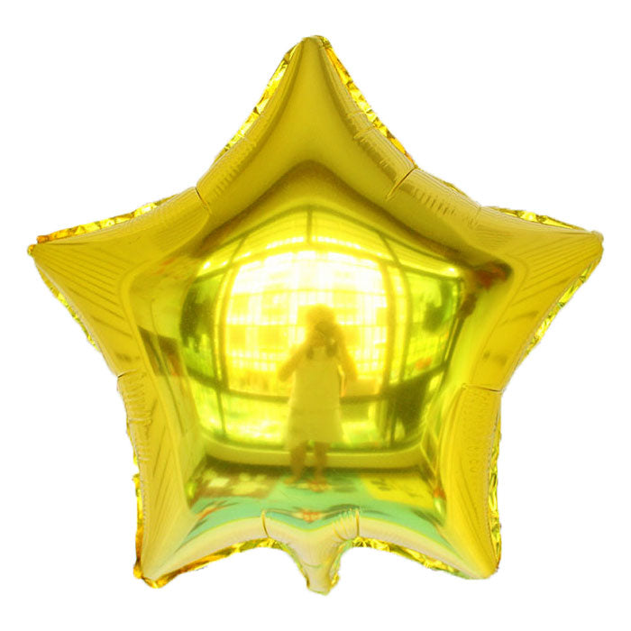 Golden Color Star Shaped Balloon - 18