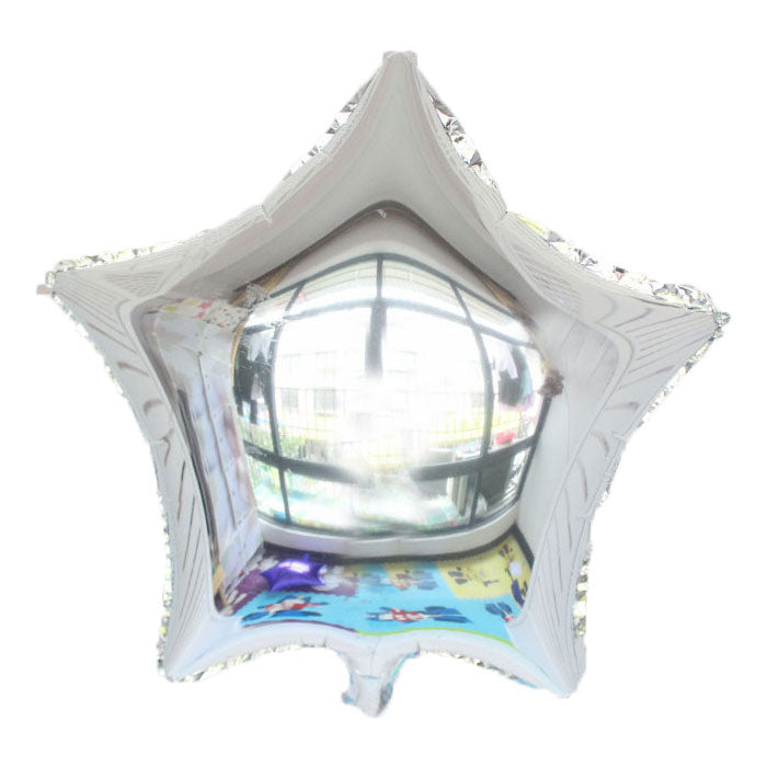 "Silver Color Star Shaped Balloon - 18"" - PartyMonster.ae"
