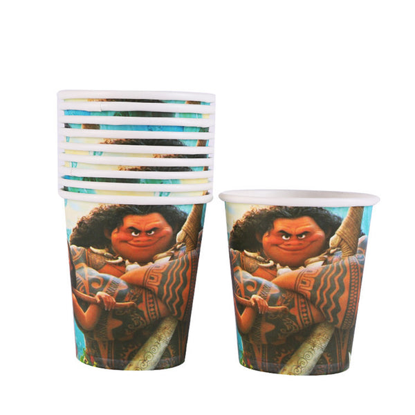 Paper cups Moana themed for sale online in Dubai