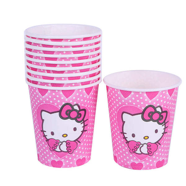 Paper cups hello kitty themed for sale online in Dubai