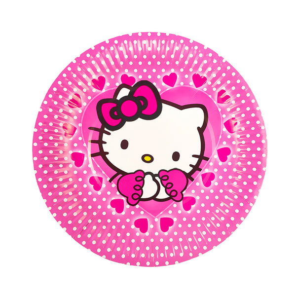 Paper plates hello kitty themed for sale online in Dubai