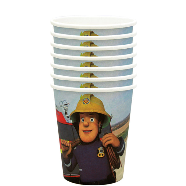 Paper cups  fireman Sam themed for sale online in Dubai