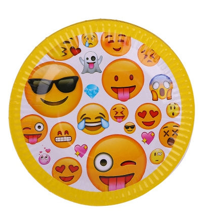 Paper plates Emoji themed for sale online in Dubai
