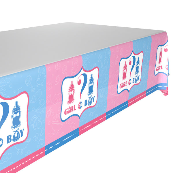 Table cover gender reveal theme for sale online in Dubai