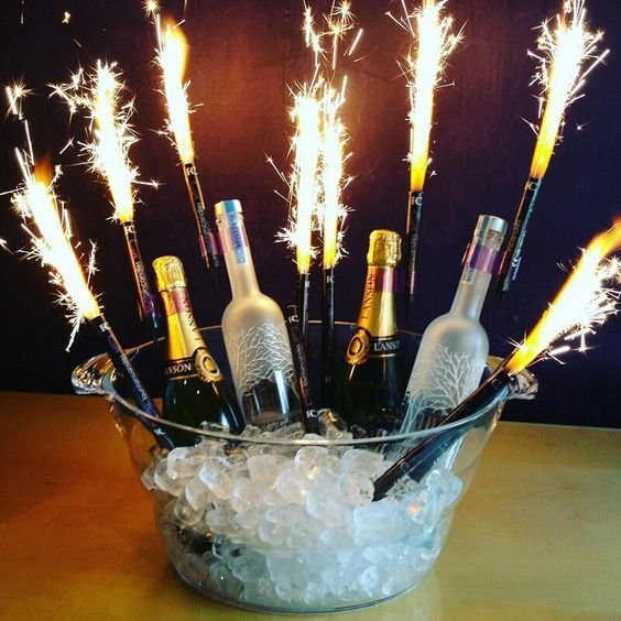 sparkling candles for alcohol bottles for sale online in Dubai