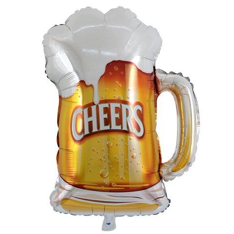 Cheers Beer Mug Balloon - 30in - PartyMonster.ae