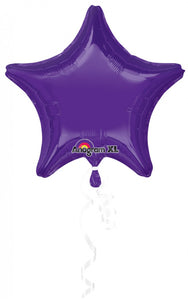 "Dark Purple Color Star Shaped Balloon - 18"" - PartyMonster.ae"