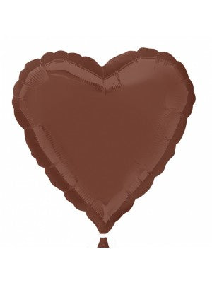 Brown Color Heart Shaped Balloon - 18