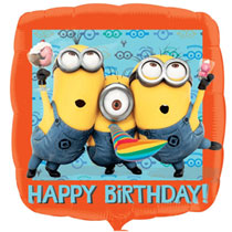 Minion Square Happy Birthday Balloon 18 inches - PartyMonster.ae