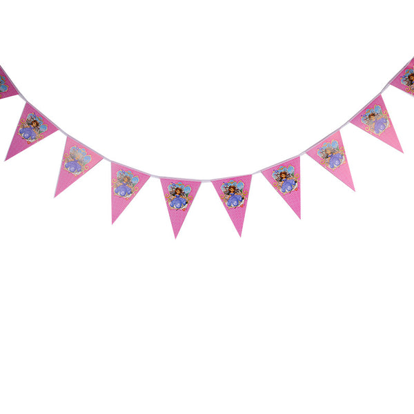 Flag banner bunting  Sophia the First themed for sale online in Dubai