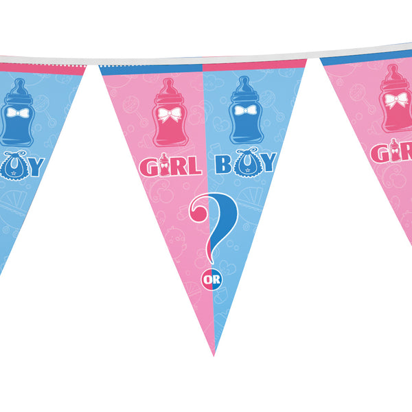 Flag banner gender reveal theme for sale online in Dubai