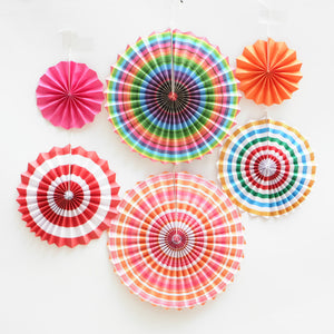 Multicolour paper fans hanging decor for sale online in Dubai