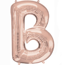 Alphabet B Rose Gold Foil Balloon - 16inches - PartyMonster.ae
