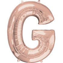 Alphabet G Rose Gold Foil Balloon - 16inches - PartyMonster.ae