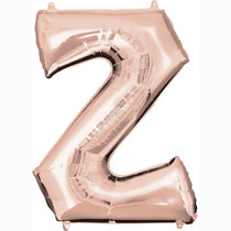 Alphabet Z Rose Gold Foil Balloon - 16inches - PartyMonster.ae