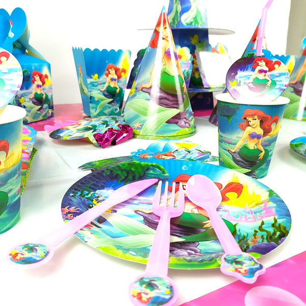 Mermaid themed party supplies for sale online in Dubai