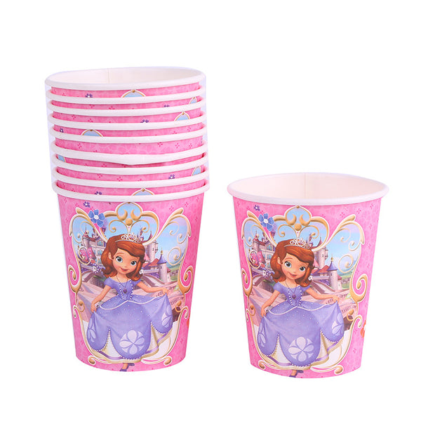 Paper cups  Sophia the First themed for sale online in Dubai