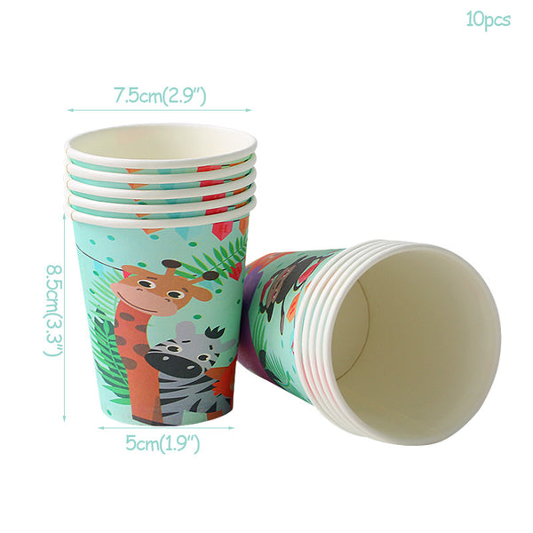 paper cups animals themed  for sale online in Dubai