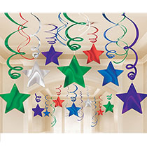 Shooting Star Swirl Decorations, 30pcs