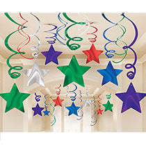 Shooting Star Swirl Decorations, 30pcs - PartyMonster.ae