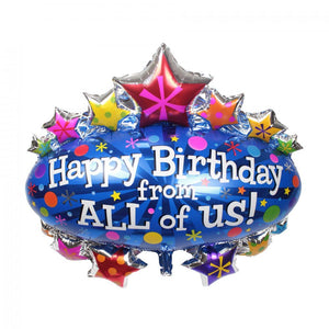 Happy Birthday From All of Us foil balloon for sale online in Dubai