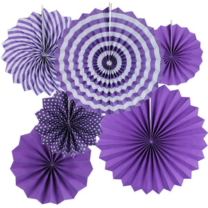 Purple paper fans hanging decor for sale online in Dubai