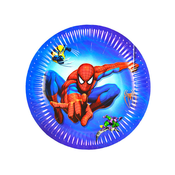 Paper Plates Spiderman themed for sale online in Dubai