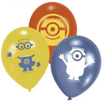 Minions Latex Balloons 9in, 6pcs - PartyMonster.ae