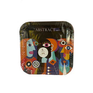 Abstract Art Paper Plates for sale in Dubai