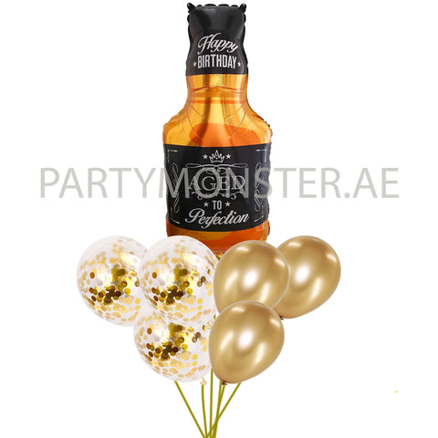 Aged to Perfection birthday balloons bouquet - PartyMonster.ae