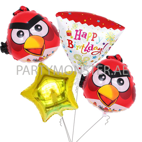Angry Birds birthday balloons bouquet - PartyMonster.ae