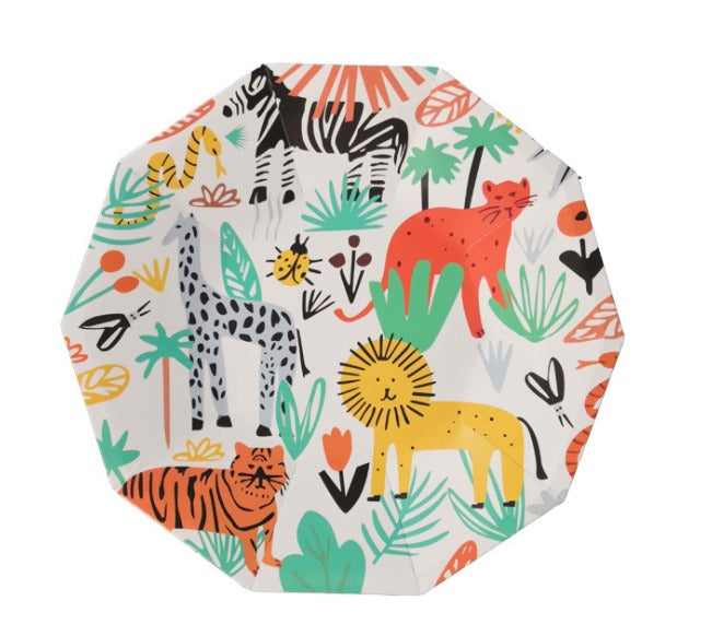 Animals Hexagonal paper plates for sale in Dubai