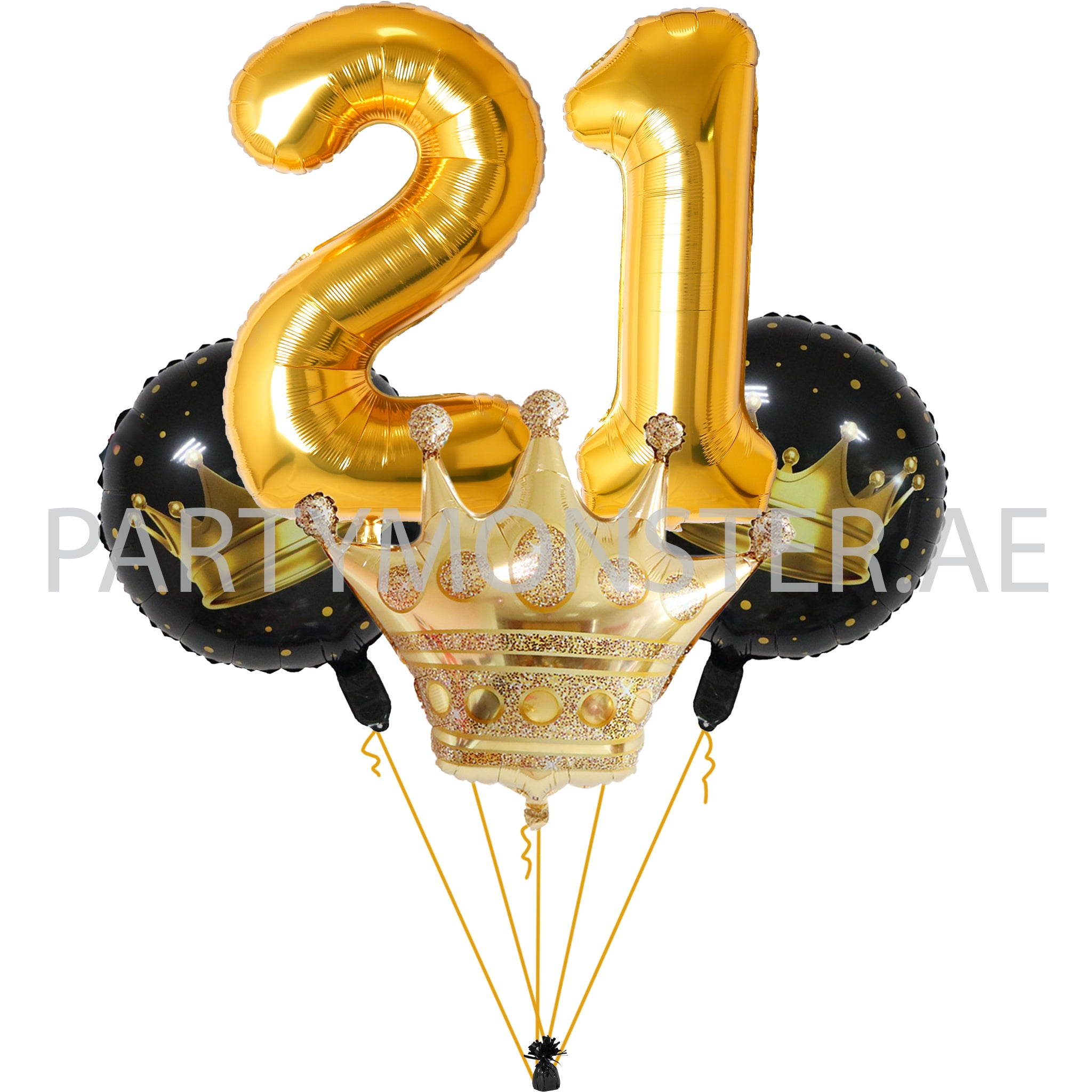 crown themed birthday party balloons delivery in Dubai