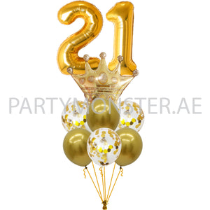 Any Number Royal Crown Birthday Balloons Bouquet