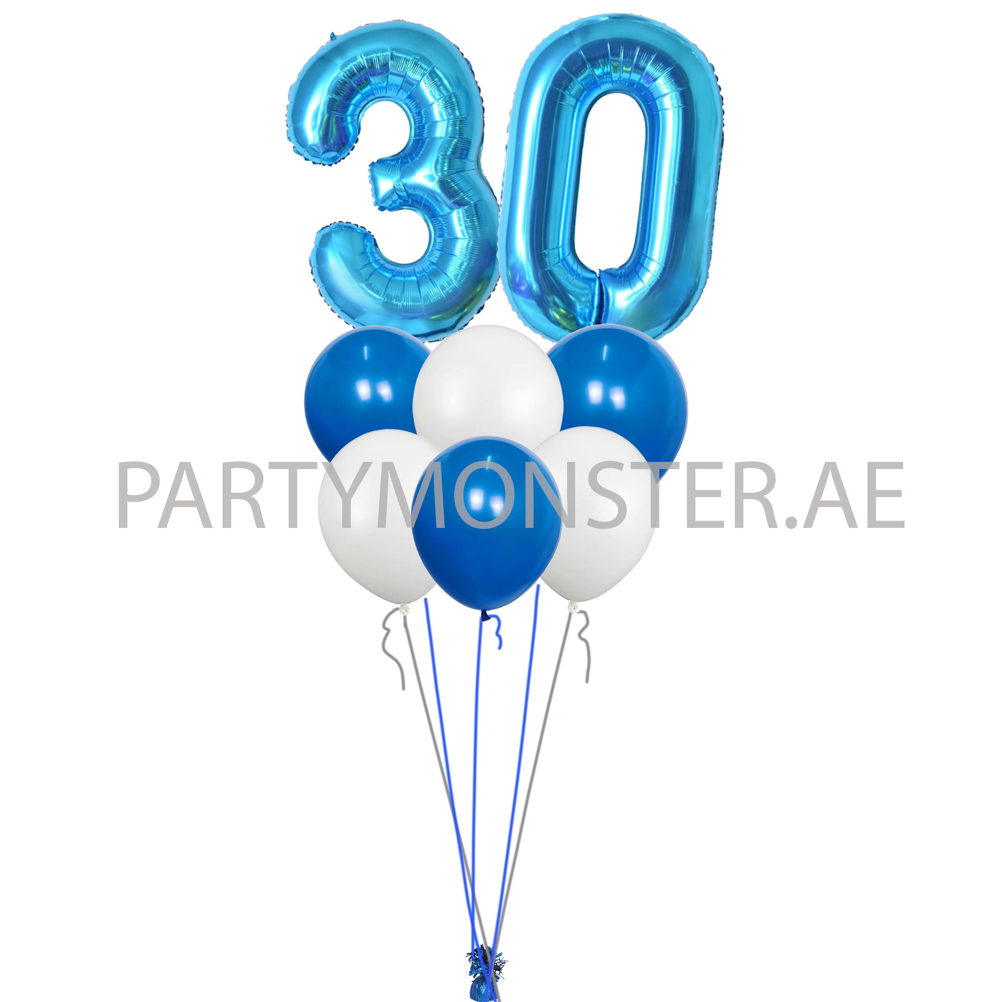 Any blue numbers balloons bouquet - PartyMonster.ae