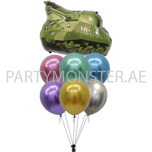 Army tank balloons bouquet for sale online in Dubai