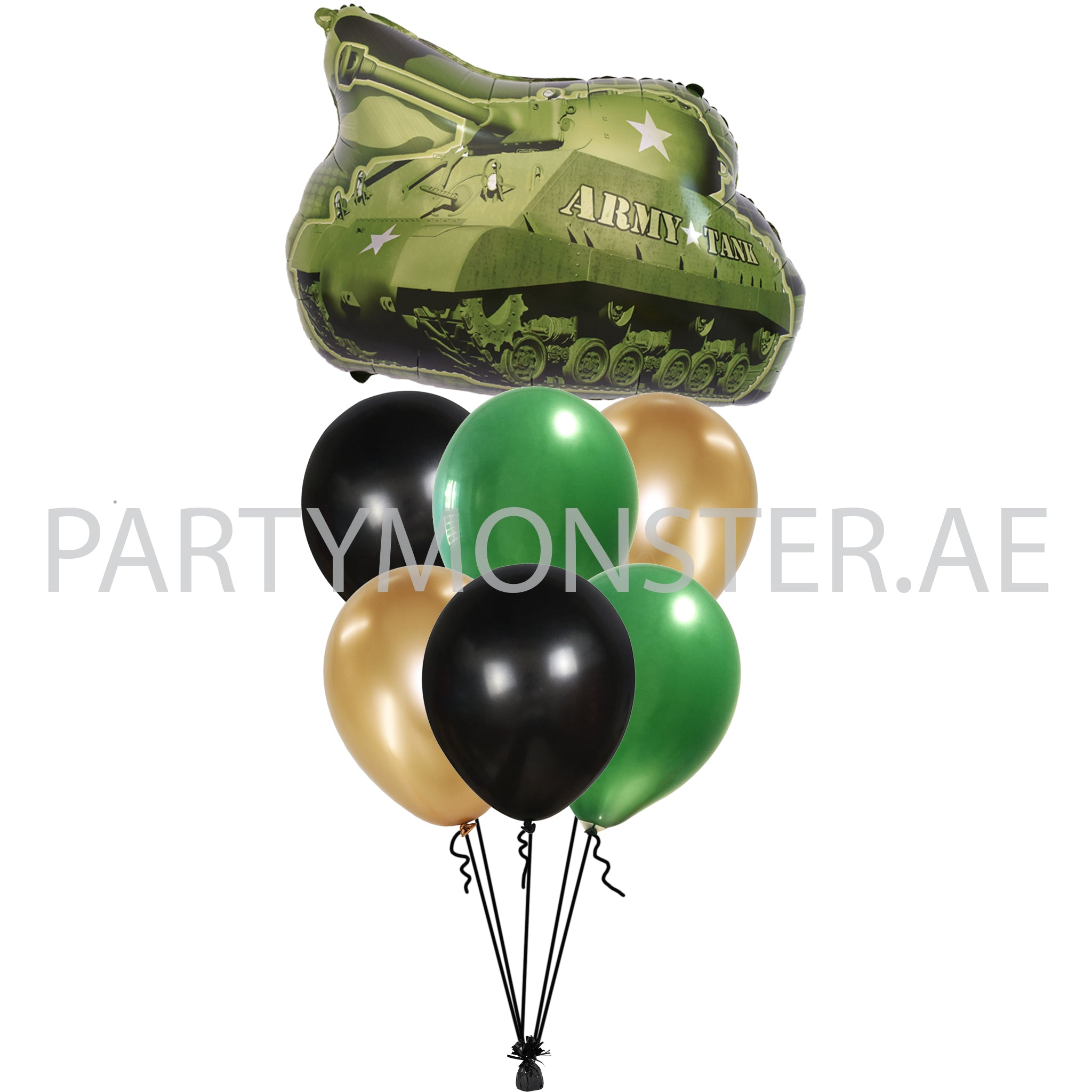 Army Tank Balloons Bouquet delivery in Dubai