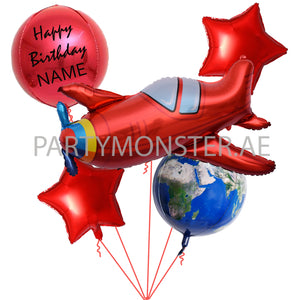 Around the World Customized Balloons Bouquet