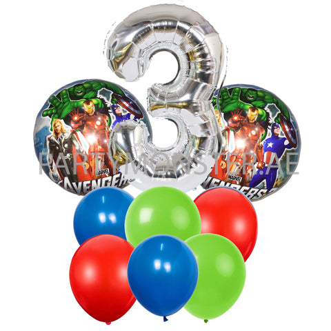 Avengers any number balloons bouquet - PartyMonster.ae