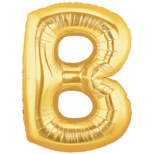 Letter B Golden Foil Balloon - 16in - PartyMonster.ae