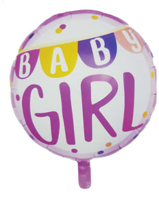 Baby Girl hot pink foil balloon for sale online in Dubai