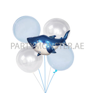 Baby Shark themed balloons bouquet - PartyMonster.ae