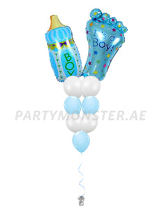 Baby boy balloons bouquet 3 - PartyMonster.ae