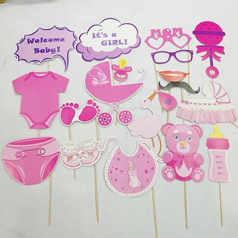 Props set for newborn baby girl/baby shower 17pieces in a bag - PartyMonster.ae