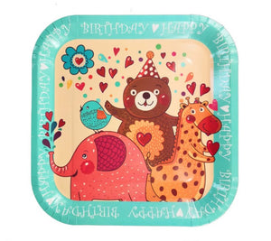 Birthday Animals party plates for sale in Dubai