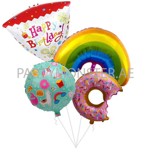 Birthday balloons bouquet - PartyMonster.ae