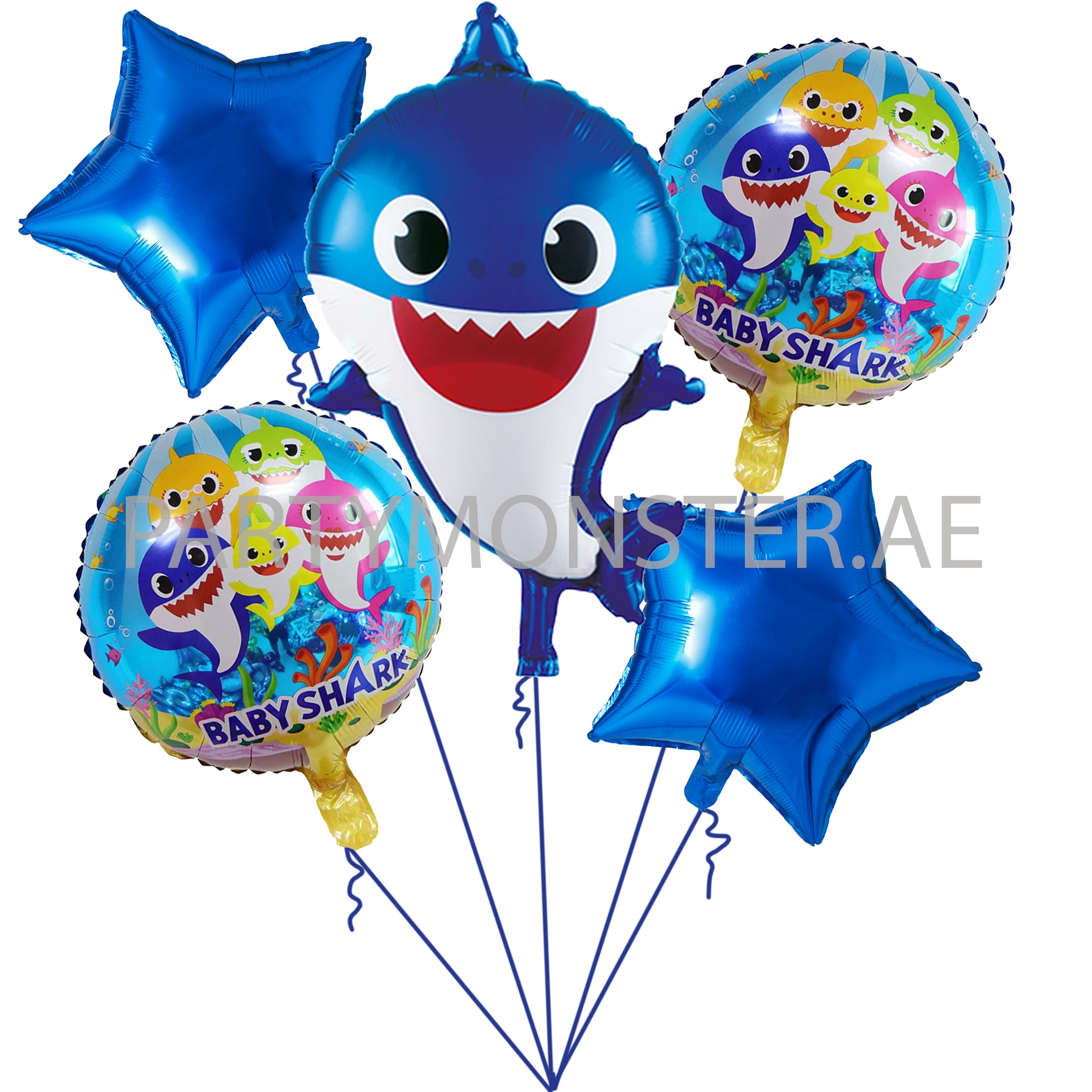 Baby shark themed balloons for sale online in Dubai